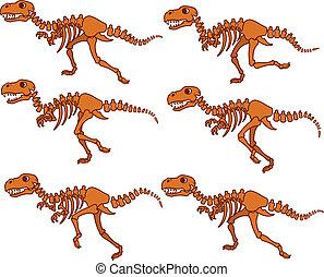 T Rex Bones Running Sequence