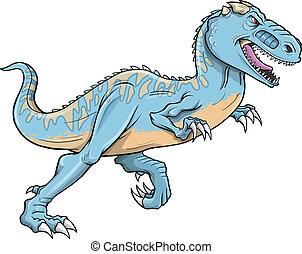 T-Rex Carnotaurus Dinosaur Vector - Tyrannosaurus...