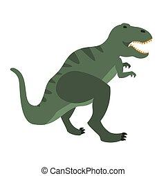 T-Rex Dinosaur Of Jurassic Period, Prehistoric Extinct Giant Reptile Cartoon Realistic Animal