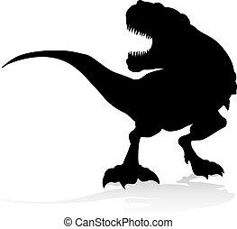 T Rex Dinosaur Silhouette