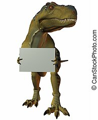 t-rex, meldingsbord