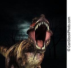 t rex, rugido