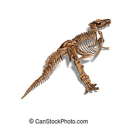 T-Rex Skeleton - rendering of a t-rex skeleton with Clipping...