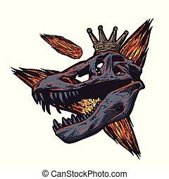 T rex skull head extinction