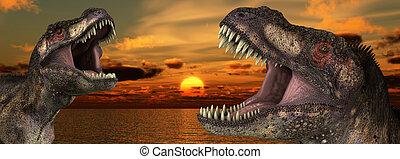 T Rex Sunrise