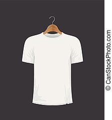 t-shirt, agasalho, branca, cabide
