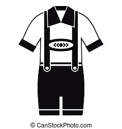 T-shirt and pants with suspenders icon