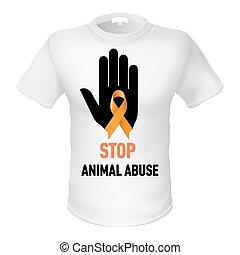 T-shirt animal abuse
