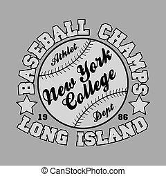 T-shirt  baseball, design, fashion