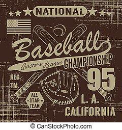 T shirt, Baseball sport typography