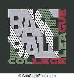 t-shirt, basebol, desenho