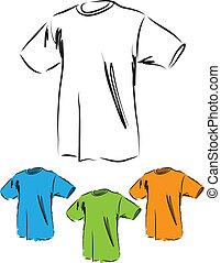 t-shirt-basic-cotton, イラスト