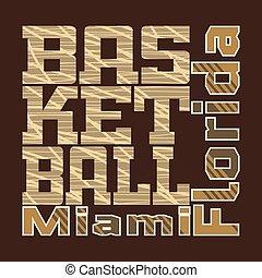 t-shirt, basketbal, ontwerp