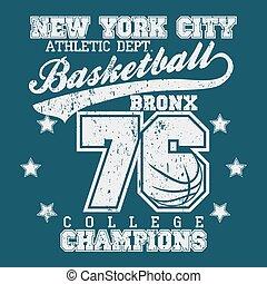 t-shirt, basquetebol, campeão