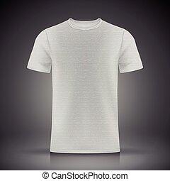 t-shirt, blanc, gabarit