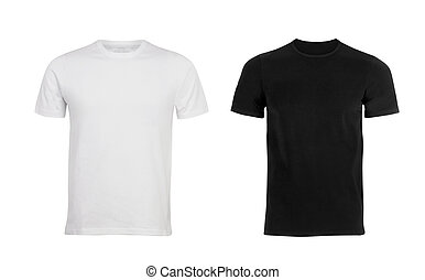 t-shirt, blanc, noir
