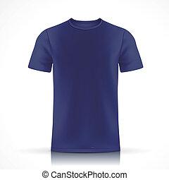 t-shirt bleu, gabarit