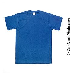 t-shirt blu, bianco, isolato, fondo