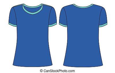 t-shirt blu, uomini, mascherine