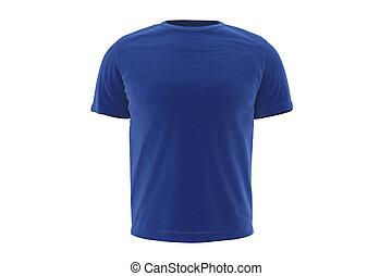 T-shirt blue wear, front view