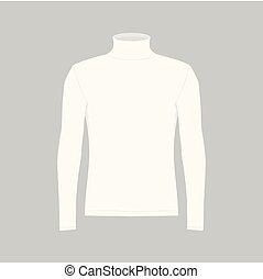 t-shirt, branca, homens, manga longa