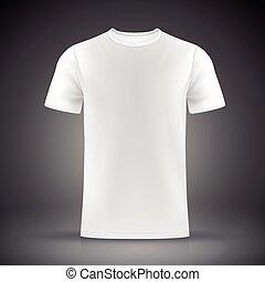 t-shirt, branca, modelo