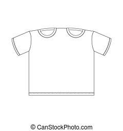 t-shirt branco, para, dois, template., roupas, para, lovers., vetorial, ilustração