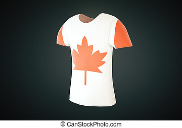 T-shirt Canadian flag side