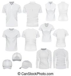 T-shirt cap mockup set, realistic style