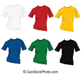 T-shirt colorful design templates