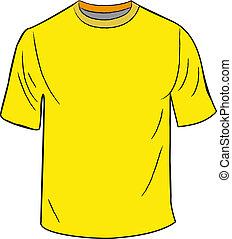 t-shirt, conception, gabarit
