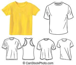 t-shirt, conceptions, ensemble