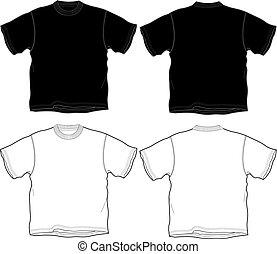 t-shirt, contour