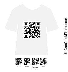 t shirt design - T shirt design idea with QR code...