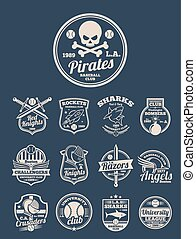 T-shirt design vector templates for colleges