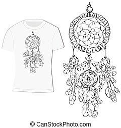 t-shirt design with dreamcatcher
