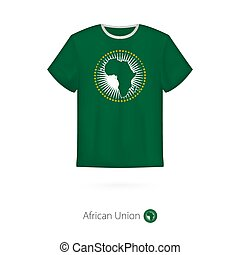 T-shirt design with flag of African Union.