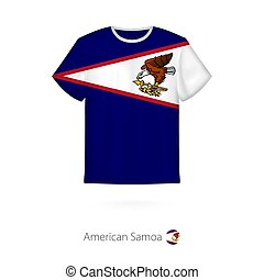 T-shirt design with flag of American Samoa.