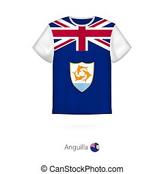 T-shirt design with flag of Anguilla.