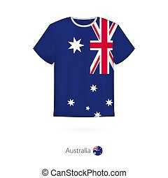 T-shirt design with flag of Australia.