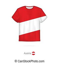 T-shirt design with flag of Austria.