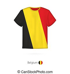 T-shirt design with flag of Belgium.