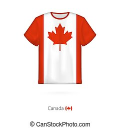 T-shirt design with flag of Canada.