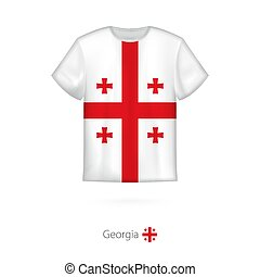 T-shirt design with flag of Georgia.