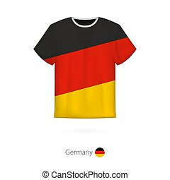 T-shirt design with flag of Germany.