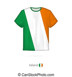 T-shirt design with flag of Ireland.