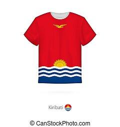 T-shirt design with flag of Kiribati.