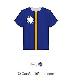 T-shirt design with flag of Nauru