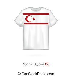 T-shirt design with flag of Northern Cyprus.