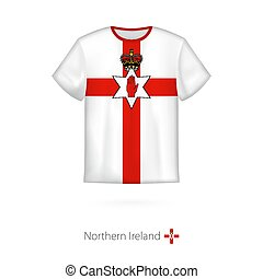 T-shirt design with flag of Northern Ireland.
